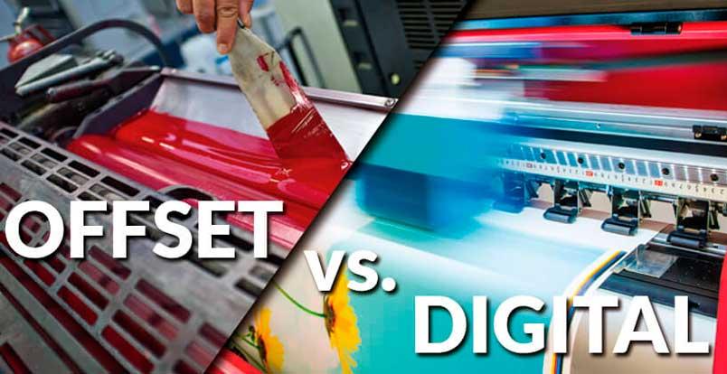 Impressão offset ou digital