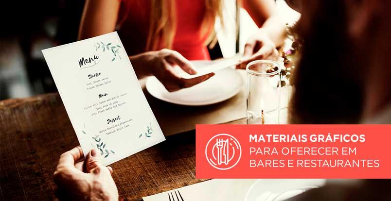 Materiais gráficos para restaurantes